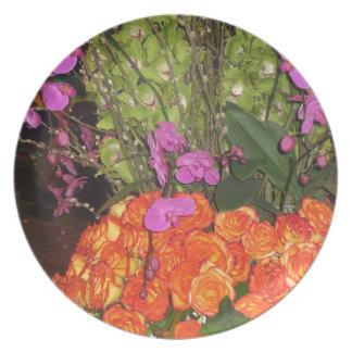 Assiette Jardin Vegas de PAPILLON : Fleurs, coccinelle,