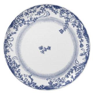 Assiette joli bleu antique vintage de plat de Delft