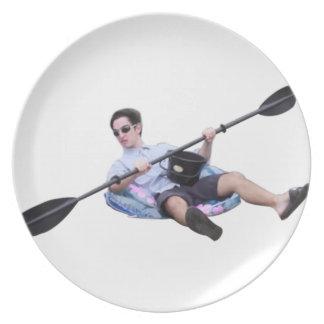 Assiette kayak franc dégoûtant