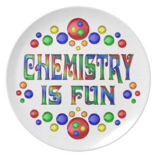 Assiette La chimie est amusement