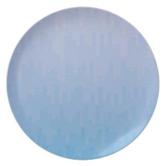 Assiette Le bleu se fanent