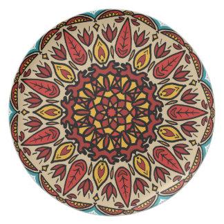 Assiette Mandala de chute