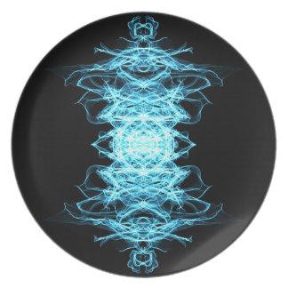 Assiette Mandala d'éclairage