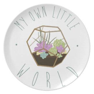 Assiette Mon propre petit monde