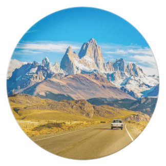 Assiette Montagnes de Milou les Andes, EL Chalten,