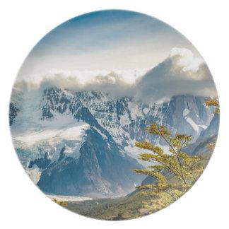 Assiette Montagnes de Milou les Andes, EL Chalten Argentine