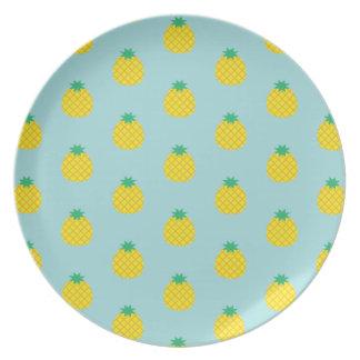 Assiette Motif d'ananas