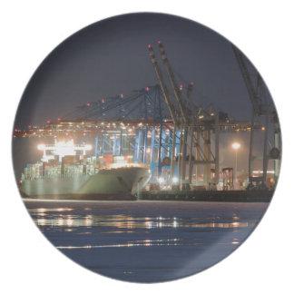 Assiette Navire porte-conteneurs