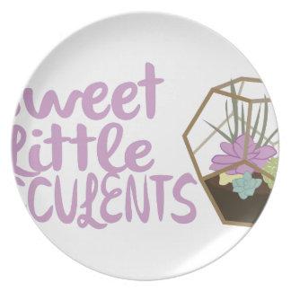 Assiette Petits Succulents doux
