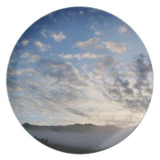 Assiette Photographie pittoresque de nuages de ciel de