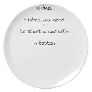 Assiette Plaisanteries de Boston