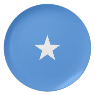 Assiette Plat de drapeau de la Somalie Fisheye