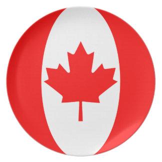 Assiette Plat de drapeau du Canada Fisheye
