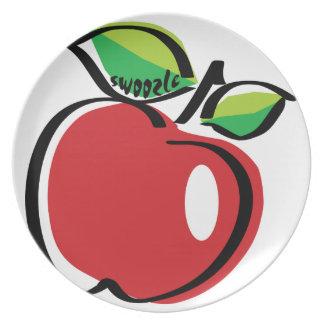 Assiette Plat de mélamine d'Apple Swoozle