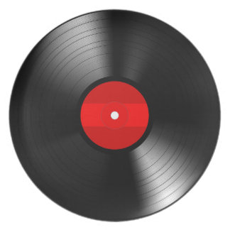 Assiette Plat de mélamine de disque vinyle