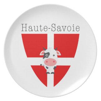 Assiette Plat de mélamine de vache à la Haute-Savoie
