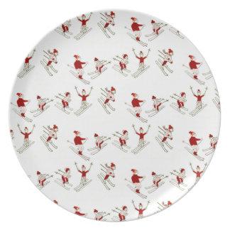 Assiette plat de skieur de Noël