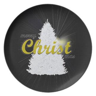 Assiette Plat de souvenir de vacances d'arbre de Noël
