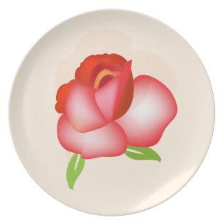 Assiette Plat - Ombre rouge s'est levé