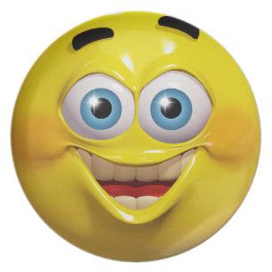 Emoticone Drole assiettes émoticônes | zazzle.be