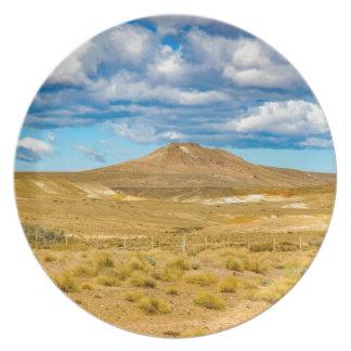 Assiette Scène Patagonian de paysage, Argentine