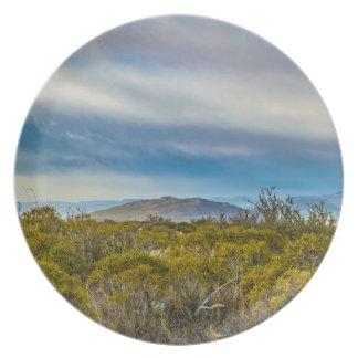 Assiette Scène Patagonian de paysage, Santa Cruz, Argentine