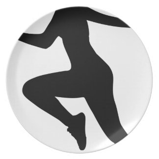 Assiette Silhouette de femme de forme physique