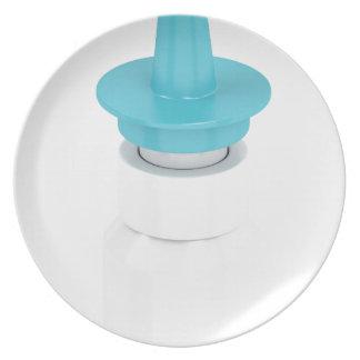 Assiette Spray nasal sur le blanc