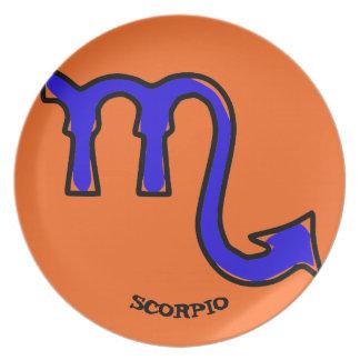 Assiette Symbole de Scorpion