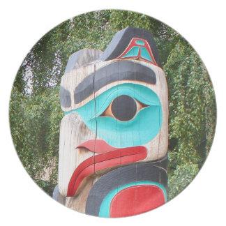 Assiette Totem Polonais, Anchorage, Alaska 2 de Natif