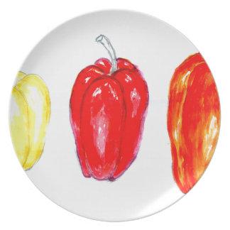 Assiette Trois poivrons Art2
