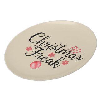 Assiette Typographie anormale de Noël