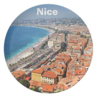 Assiette Vue aérienne de la Côte d'Azur à Nice, France
