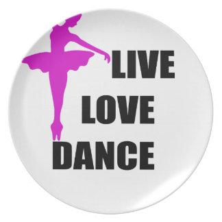 Assiettes En Mélamine amour de danse vivant