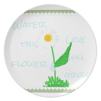 Assiettes En Mélamine Amour de fleur