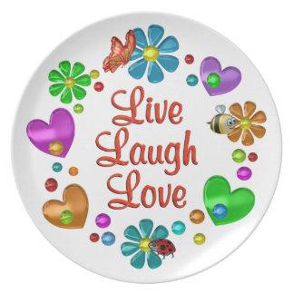 Assiettes En Mélamine Amour vivant de rire d'amusement