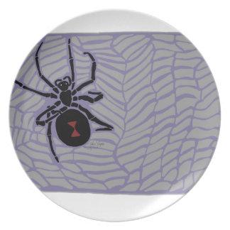 Assiettes En Mélamine Araignée de veuve noire