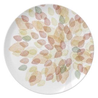 Assiettes En Mélamine Arbre de bouleau dans des couleurs d'automne