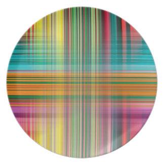 Assiettes En Mélamine Arrière - plan coloré de motif abstrait