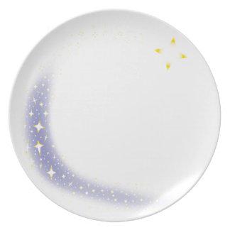 Assiettes En Mélamine Arrière - plan d'étoile filante