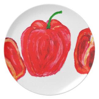 Assiettes En Mélamine Art de trois poivrons