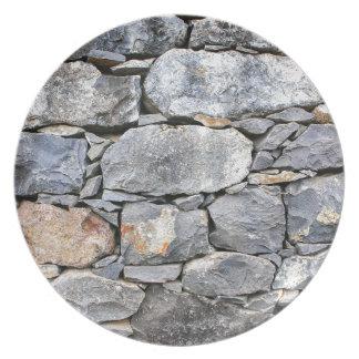 Assiettes En Mélamine Backgound des pierres naturelles comme mur