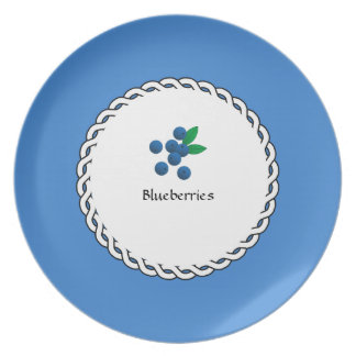 Assiettes En Mélamine Baie-Plats (c) Blueberries_Dessert_Luncheon