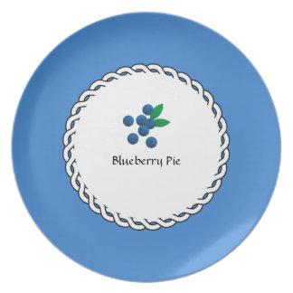 Assiettes En Mélamine Baie-Plats (c) Blueberry_Pie_Berry_Luncheon