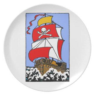 Assiettes En Mélamine Bateau de pirate