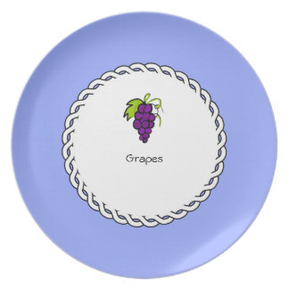 Assiettes En Mélamine _Berry_Plate des Baie-Plat-Raisins (c)