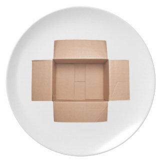 Assiettes En Mélamine Boîte en carton ondulé Opened