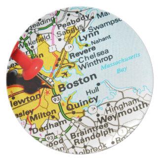 Assiettes En Mélamine Boston, le Massachusetts
