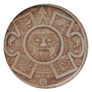 Assiettes En Mélamine Calendrier maya