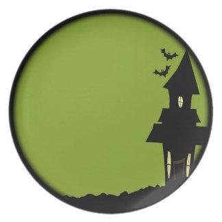 Assiettes En Mélamine Chambre de Halloween